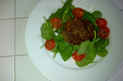 Quick and easy spicy lentil burgers