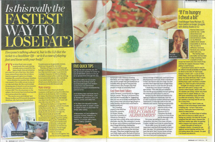 5:2 Diet Woman Magazine